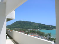 Master bedroom wrap around balcony facing Patong Beach